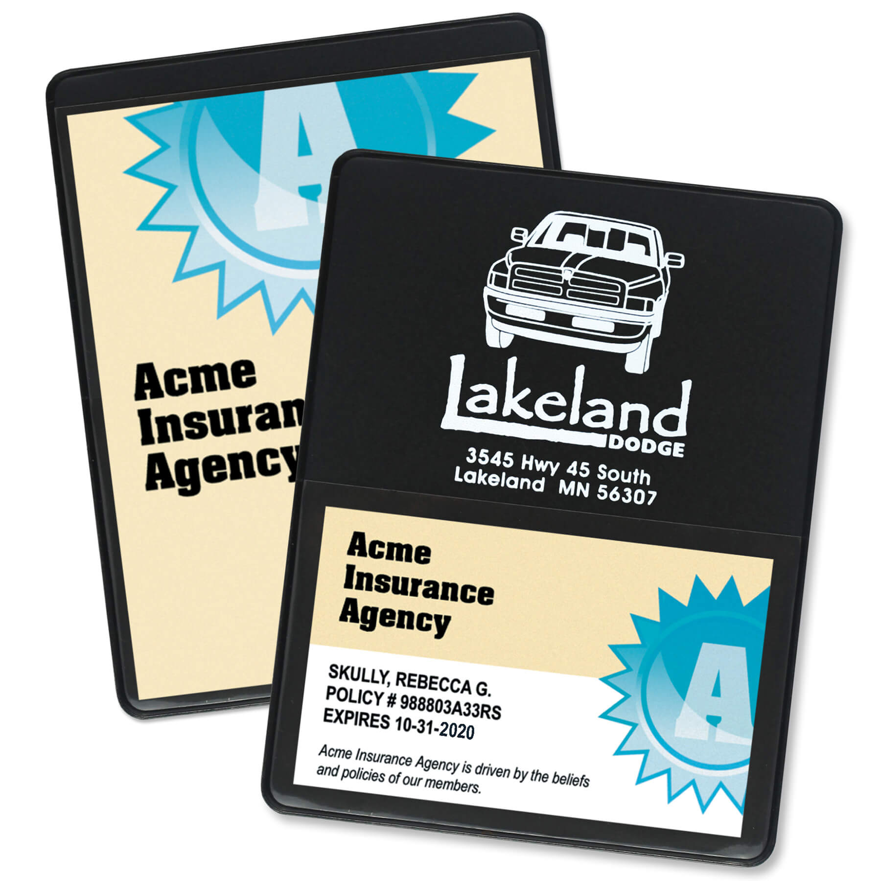 Item: 1602 - Proof of Insurance/Business Card Holder