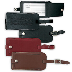 Item: 8076 - Vintage Leather Luggage Tag