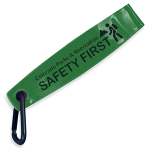 Item: RF1163 - Reflective Safety FOB with Carabiner