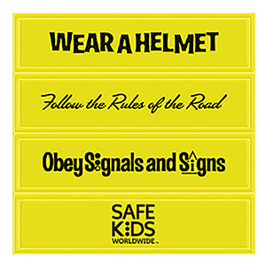Item: RF265 - Set of 4 Helmet Reflectors
