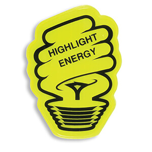 Item:  RF395 - Eco Bulb Stickers